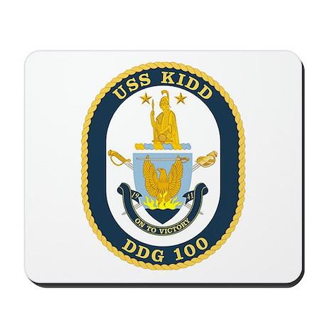 USS Kidd DDG 100 Mousepad