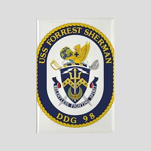 USS Forrest Sherman DDG Rectangle Magnet