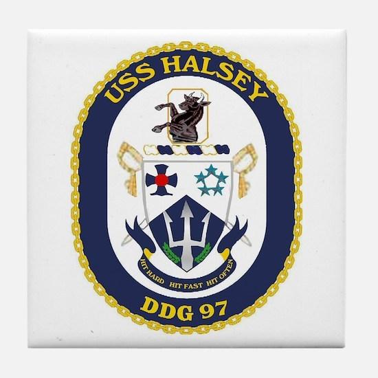 USS Halsey DDG 97 Tile Coaster