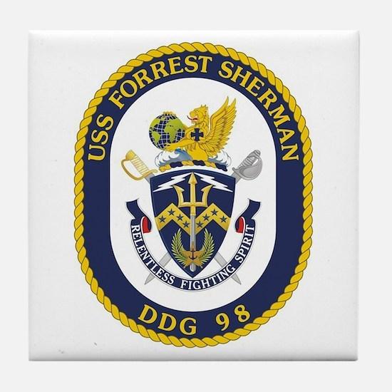 USS Forrest Sherman DDG Tile Coaster