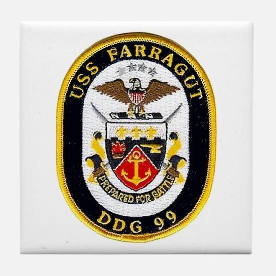 USS Farragut DDG 99 Tile Coaster