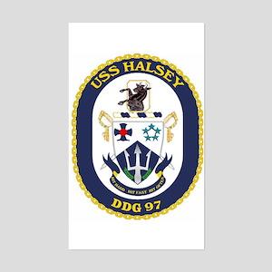 USS Halsey DDG 97 Rectangle Sticker