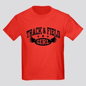 Track & Field Girl Kids Dark T-Shirt