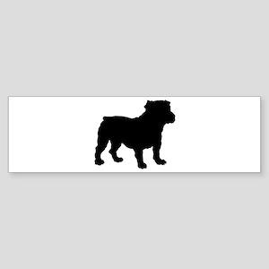 Bulldog Silhouette Sticker (Bumper)