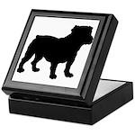 Bulldog Silhouette Keepsake Box