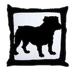 Bulldog Silhouette Throw Pillow
