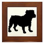 Bulldog Silhouette Framed Tile