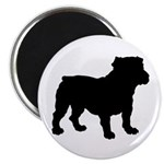 Bulldog Silhouette Magnet