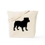 Bulldog Silhouette Tote Bag