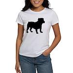 Bulldog Silhouette Women's T-Shirt