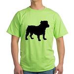 Bulldog Silhouette Green T-Shirt