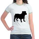Bulldog Silhouette Jr. Ringer T-Shirt