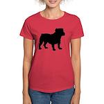 Bulldog Silhouette Women's Dark T-Shirt