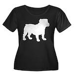 Bulldog Silhouette Women's Plus Size Scoop Neck Da