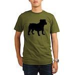 Bulldog Silhouette Organic Men's T-Shirt (dark)