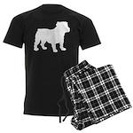 Bulldog Silhouette Men's Dark Pajamas