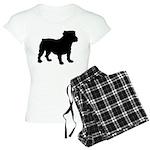 Bulldog Silhouette Women's Light Pajamas