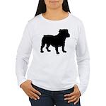 Bulldog Silhouette Women's Long Sleeve T-Shirt