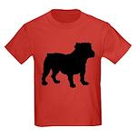 Bulldog Silhouette Kids Dark T-Shirt