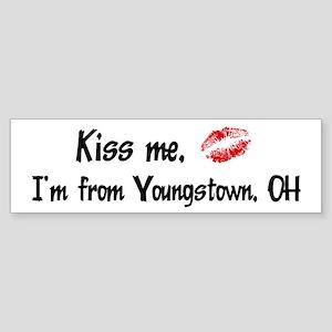 Kiss Me: Youngstown Bumper Sticker