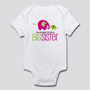 Elephant going to be a Big Sister Infant Bodysuit