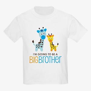 Giraffe going to be a Big Brother Kids Light T-Shi