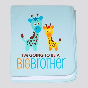 Giraffe going to be a Big Brother baby blanket