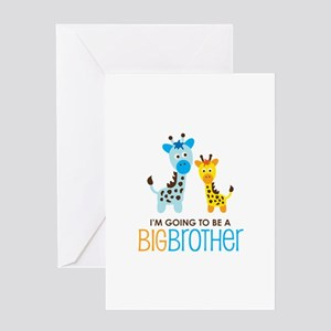 Giraffe going to be a Big Brother Greeting Card