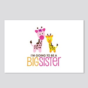 Giraffe going to be a Big Sister Postcards (Packag