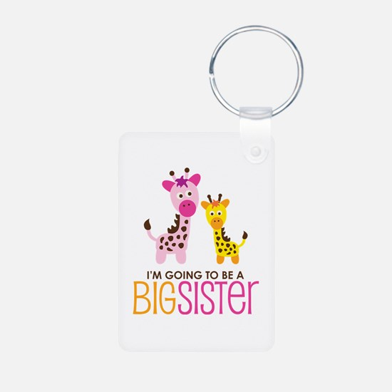 Giraffe going to be a Big Sister Keychains
