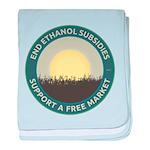 End Ethanol Subsidies baby blanket