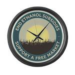 End Ethanol Subsidies Large Wall Clock