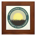 End Ethanol Subsidies Framed Tile