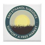 End Ethanol Subsidies Tile Coaster