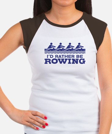 I'd Rather Be Rowing Women's Cap Sleeve T-Shirt