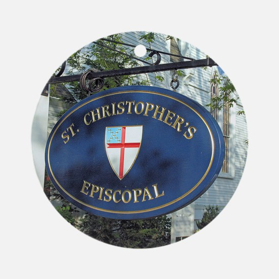 St Christopher's Episcopal Ornament (Round)