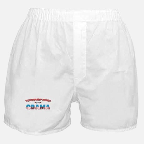 Veterinary Nurse For Obama Boxer Shorts
