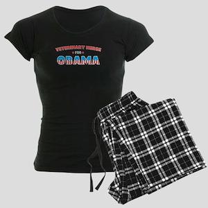 Veterinary Nurse For Obama Women's Dark Pajamas