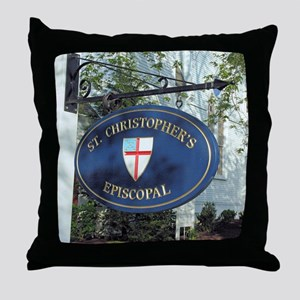 St Christopher's Episcopal Throw Pillow