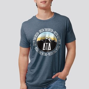 Delta Tau Delta Mountain S Mens Tri-blend T-Shirts