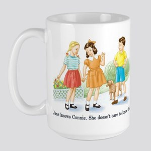 Jane knows Connie... Retro Sh Large Mug