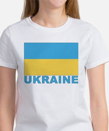 World Flag Ukraine Women's T-Shirt