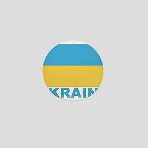 World Flag Ukraine Mini Button