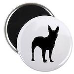 Bullterrier Silhouette Magnet