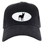 Christmas or Holiday Boxer Silhouette Black Cap
