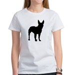 Christmas or Holiday Boxer Silhouette Women's T-Sh
