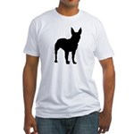 Christmas or Holiday Boxer Silhouette Fitted T-Shi