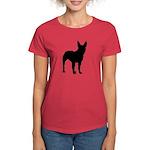 Bullterrier Silhouette Women's Dark T-Shirt