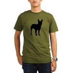 Bullterrier Silhouette Organic Men's T-Shirt (dark