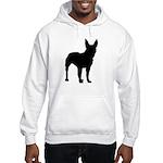 Bullterrier Silhouette Hooded Sweatshirt